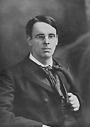 William Butler Yeats (1865-1939) as a young man. Irish poet. After photograph by Elliott and Fry.