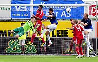 Fotball Herrer UEFA Europa League 2013<br /> Marienlyst Stadion Gamle Gress  18.07.2013<br /> <br /> Strømsgodset vs Debrecen<br /> <br /> Resultat <br /> <br /> Foto: Robert Christensen Digitalsport<br /> <br /> Strømsgodset Peter Kovas med sjanse<br /> <br /> Debrecen keeper Istvan Verpecz