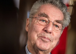 29.01.2014, Hofburg, Wien, AUT, Sochi 2014, Vereidigung OeOC, im Bild Bundespräsident Heinz Fischer // Federal President Heinz Fischer during the swearing-in of the Austrian National Olympic Committee for Sochi 2014 at the  Hofburg in Vienna, Austria on 2014/01/29. EXPA Pictures © 2014, PhotoCredit: EXPA/ JFK