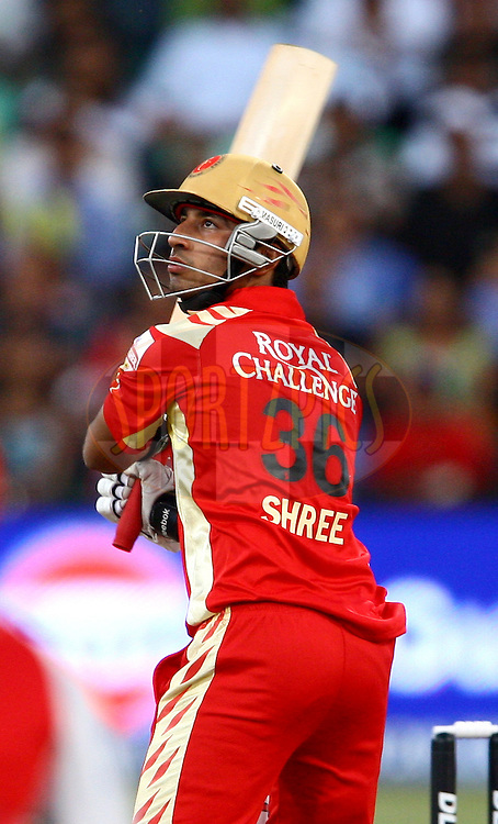 DURBAN, SOUTH AFRICA - 1 May 2009.Goswami watches this one go during the IPL Season 2 match between Kings X1 Punjab and the Royal Challengers Bangalore held at Sahara Stadium Kingsmead, Durban, South Africa..