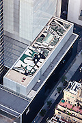 The Museum of Modern Art, 11 West 53 Street, Midtown, New York, NY, 10019, 40.761642,-73.977385, LOCATION: Meant to be seen only from above, artificial materials and pebbles make up the camouflage pattern on the roof at the Museum of Modern Art.<br /> <br /> Landscape architect: Ken Smith