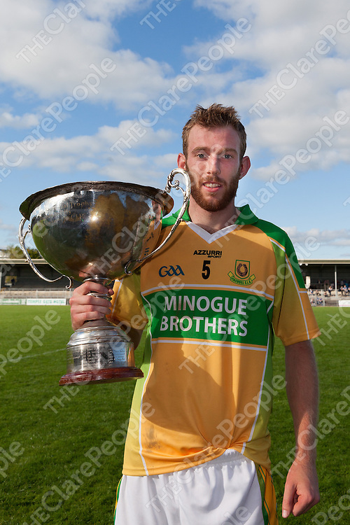 Feakle's Captain Killian Bane with the Intermediate Championship Cup