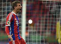 FUSSBALL  DFB  POKAL  HALBFINALE  SAISON  2014/2015 FC Bayern Muenchen - Borussia Dortmund   28.04.2015 Thomas Mueller (FC Bayern Muenchen) emotional