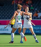 ANTWERPEN -  Ireland-Russia (3-2) . Belfius Eurohockey Championship (women) hockey. Nicola Evans (Irl) scored. right Kathryn Mullan (Irl) .  WSP/ KOEN SUYK