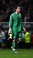 Photo: Andrew Unwin.<br />Newcastle United v Watford. The Barclays Premiership. 16/12/2006.<br />Watford's Richard Lee looks dejected.