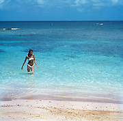 Girl on Fleming Beach - Goldeneye Jamaica