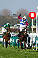 National Hunt Horse Racing - 2017 Randox Grand National Festival - Saturday, Day Three [Grand National Day]<br /> <br /> Derek Fox on One For Arthur wins  the 5.15, the Randox Health Grand National  at Aintree Racecourse.<br /> <br /> COLORSPORT/WINSTON BYNORTH<br /> <br /> <br /> <br /> <br /> <br /> <br /> <br /> <br /> <br /> <br /> National Hunt Horse Racing - 2017 Randox Grand National Festival - Saturday, Day Three [Grand National Day]<br /> <br />  in the 1st race the 1.45 Gaskells Handicap Hurdle at Aintree Racecourse.<br /> <br /> COLORSPORT/WINSTON BYNORTH