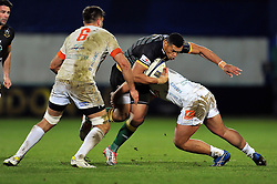 Luther Burrell of Northampton Saints takes on the Treviso defence - Photo mandatory by-line: Patrick Khachfe/JMP - Mobile: 07966 386802 13/12/2014 - SPORT - RUGBY UNION - Northampton - Franklin's Gardens - Northampton Saints v Treviso - European Rugby Champions Cup