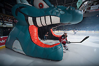 KELOWNA, CANADA - JANUARY 10: Madison Bowey #4 of Kelowna Rockets enters the ice in his World Jr. Championship jersey against the Medicine Hat Tigers on January 10, 2015 at Prospera Place in Kelowna, British Columbia, Canada.  (Photo by Marissa Baecker/Shoot the Breeze)  *** Local Caption *** Madison Bowey;