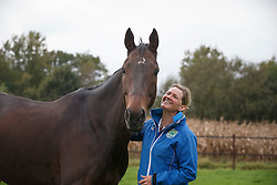 At home with Karin Donckers and Fletcha van't Verahof<br /> Donckers stablers - Minderhoud 2014<br /> © Dirk Caremans<br /> 14/10/14