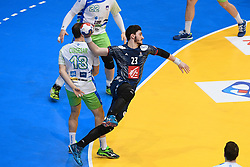 Fabregas Ludovic during 25th IHF men's world championship 2017 match between France and Slovenia at Accord hotel Arena on january 24 2017 in Paris. France. PHOTO: CHRISTOPHE SAIDI / SIPA / Sportida