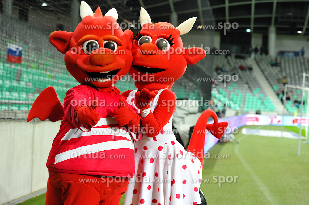 Mascot´s during football match between NationalTeams of Slovenia and San Marino in Round 5 of EURO 2016 Qualifications, on March 27, 2015 in SRC Stozice, Ljubljana, Slovenia. Photo by Mario Horvat / Sportida