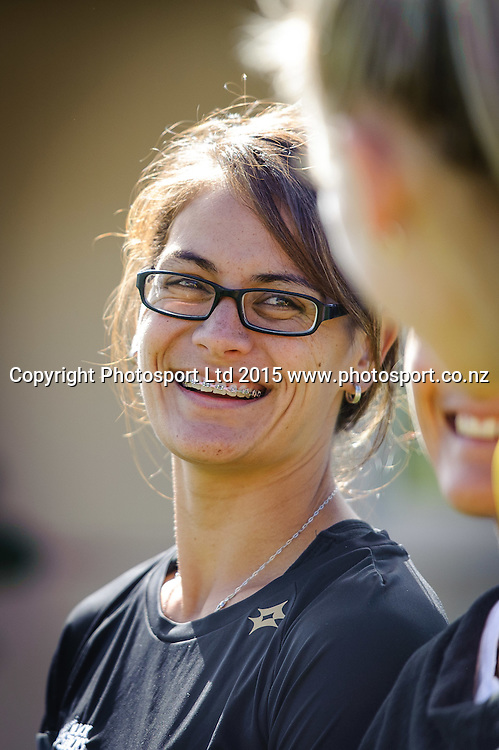 Black Sticks Player Ani Roberts talks with Silver Fern Katrina Grant during the Sport NZ Strategy Launch, Lyall Bay School, Wellington, New Zealand. Friday 20 March 2015. Copyright Photo: Mark Tantrum/www.Photosport.co.nz