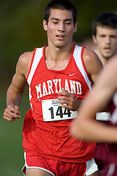 Maryland Terrapins Ben Deistel (144)..The Atlantic Coast Conference Cross Country Championships were held at Panorama Farms near Charlottesville, VA on October 27, 2007.  The men raced an 8 kilometer course while the women raced a 6k course.