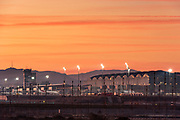 Alicante Airport located just 9km southwest of Alicante and 11km from Elche (which serves as the city center of the Mediterranean Municipality) Alicante Elche Airport serves as the main airport for the Region of Murcia and the Province of Alicante.