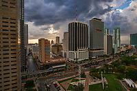 Downtown Miami & Bayfront Park (Stormy)