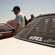 05.06.2015, Opel-Treffen Oschersleben, Sachsen-Anhalt.<br />Auf dem Campingplatz hinter der Hasser&ouml;der Trib&uuml;ne. Viele Wagen der Besucher sind so drapiert dass man meinen k&ouml;nnte man bef&auml;nde sich in einem Freiluft Showroom.<br /><br />&copy;Harald Krieg/Agentur Focus