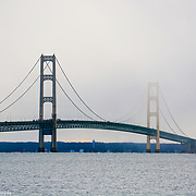 Mackinac Bridge In Partial Sun