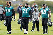 Philadelphia Eagles end their practice session during the press, training and media day for Philadephia Eagles at London Irish Training Ground, Hazelwood Centre, United Kingdom on 26 October 2018. Picture by Jason Brown.