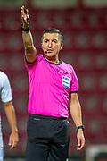 Referee Bojan Pandzic (SWE) during the U21 UEFA EUROPEAN CHAMPIONSHIPS match between U21 Scotland and U21 Greece at Tynecastle Park, Edinburgh, Scotland on 15 November 2019.