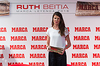 Spanish high jumper Ruth Beitia during the award ceremony of Marca legend in the spanish olympic commitee headquarters in Madrid September 13, 2016. (ALTERPHOTOS/Rodrigo Jimenez)