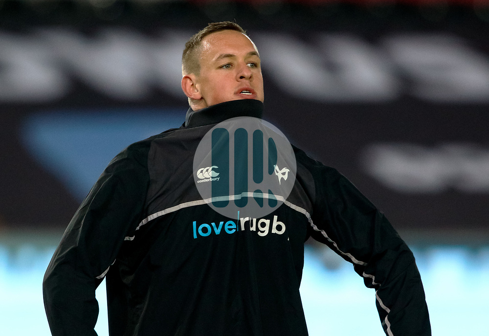 Ospreys' Hanno Dirksen during the pre match warm up<br /> <br /> Photographer Simon King/Replay Images<br /> <br /> Guinness PRO14 Round 19 - Ospreys v Leinster - Saturday 24th March 2018 - Liberty Stadium - Swansea<br /> <br /> World Copyright © Replay Images . All rights reserved. info@replayimages.co.uk - http://replayimages.co.uk