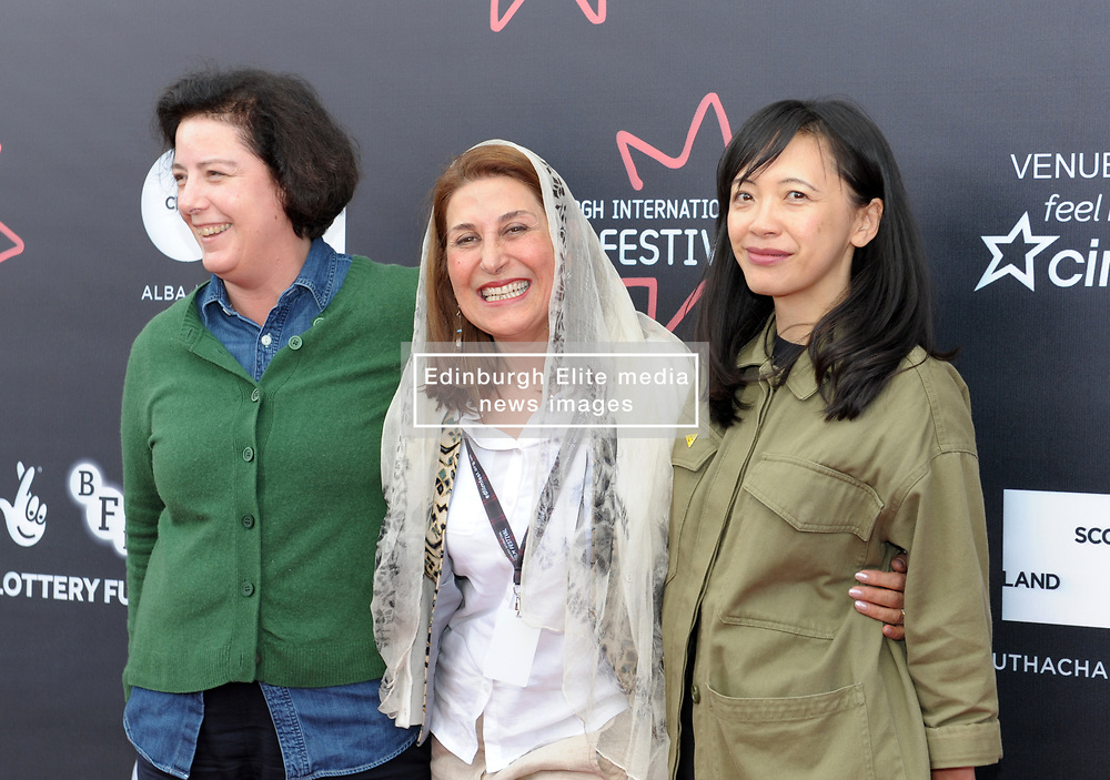 Edinburgh International Film Festival, Thursday, 21st June 2018<br /> <br /> Juror's Photocall<br /> <br /> Pictured: Grainne Humphreys, Simin Motamed-arya and Yung Kha make up the International Jury<br /> <br /> (c) Aimee Todd | Edinburgh Elite media