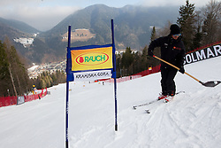 Course prior to the  Men's Giant Slalom of FIS Ski World Cup Alpine Kranjska Gora, on March 5, 2011 in Vitranc/Podkoren, Kranjska Gora, Slovenia.  (Photo By Vid Ponikvar / Sportida.com)