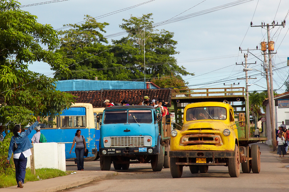 Trucks in Mantua, Pinar del Rio, Cuba.
