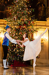 Chatsworth House Press Launch - Ballerinas from the  Nutcracker at Chatsworth on the Eve of its Christmas Season Opening left to right Dancers Ben Jones, Daisy Edwards<br />   04 October 2016<br />   Copyright Paul David Drabble<br />   www.pauldaviddrabble.photoshelter.com