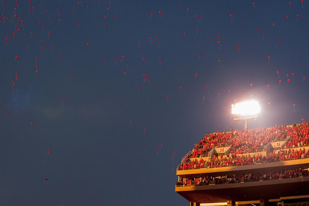 Nebraska fans during Nebraska's 43-10 win over Fresno State at Memorial Stadium in Lincoln, Neb. on Sept. 3, 2016. Photo by Aaron Babcock, Hail Varsity