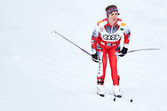 Schladming, Austria - 2017 March 20: Regine Bdinka from SO Austria competes in Cross Country Race while Special Olympics World Winter Games Austria 2017 in Ramsau am Dachstein on March 20, 2017 in Schladming, Austria.<br /> <br /> Mandatory credit:<br /> Photo by © Adam Nurkiewicz / Mediasport<br /> <br /> Adam Nurkiewicz declares that he has no rights to the image of people at the photographs of his authorship.<br /> <br /> Picture also available in RAW (NEF) or TIFF format on special request.<br /> <br /> Any editorial, commercial or promotional use requires written permission from the author of image.<br /> <br /> Image can be used in the press when the method of use and the signature does not hurt people on the picture.