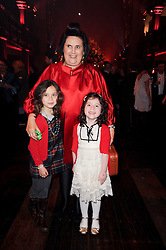 SUZY MENKES with her grand daughters (Left to right) JESSICA SPANIER and CLAUDIA SPANIER at a Celebration of 10 Years of IHT Luxury Conferences during the International Herald Tribune Heritage Luxury Conference held at One Mayfair, 13 1/2 North Audley Streer, London on 9th November 2010.