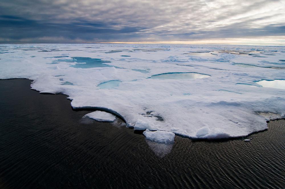 Sea ice in northern Svalbard.