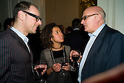DAN LEWIS; HELENA O'NEILL; NICK FRASER. Vanity Fair, Baroness Helena Kennedy QC and Henry Porter launch ' The Convention on Modern Liberty'. The Foreign Press Association. Carlton House Terrace. London. 15 January 2009 *** Local Caption *** -DO NOT ARCHIVE-© Copyright Photograph by Dafydd Jones. 248 Clapham Rd. London SW9 0PZ. Tel 0207 820 0771. www.dafjones.com.<br /> DAN LEWIS; HELENA O'NEILL; NICK FRASER. Vanity Fair, Baroness Helena Kennedy QC and Henry Porter launch ' The Convention on Modern Liberty'. The Foreign Press Association. Carlton House Terrace. London. 15 January 2009