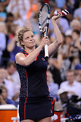 Belgium's Kim Clijsters v USA's Victoria Duval, during her first round match at the 2012 US Open Championships in New York, USA, on August 27th, 2012. Photo by Corinne Dubreuil/ABACAPRESS.COM