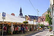 outdoor market scene, Riga, Latvia