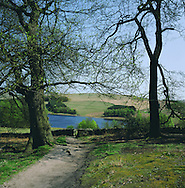 Sun shining on Errwood reservoir in the Goyt Valley, one of the main tributaries of the river Mersey. The Mersey is a river in north west England which stretches for 70 miles (112 km) from Stockport, Greater Manchester, ending at Liverpool Bay, Merseyside. For centuries, it formed part of the ancient county divide between Lancashire and Cheshire.