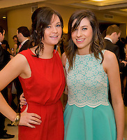 Oonnagh Commins and Karen Lalor both from Knocknacarra,  at the Take Me Out for Cancer Care West in the Sathill Hotel, Galway . Photo:Andrew Downes.