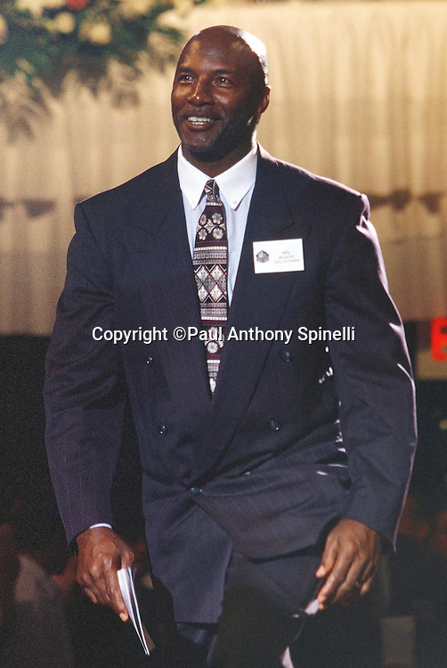 Former Pittsburgh Steelers cornerback Mel Blount smiles during the NFL Pro Football Hall of Fame civic dinner held on July 28, 2000 in Canton, Ohio. (©Paul Anthony Spinelli)