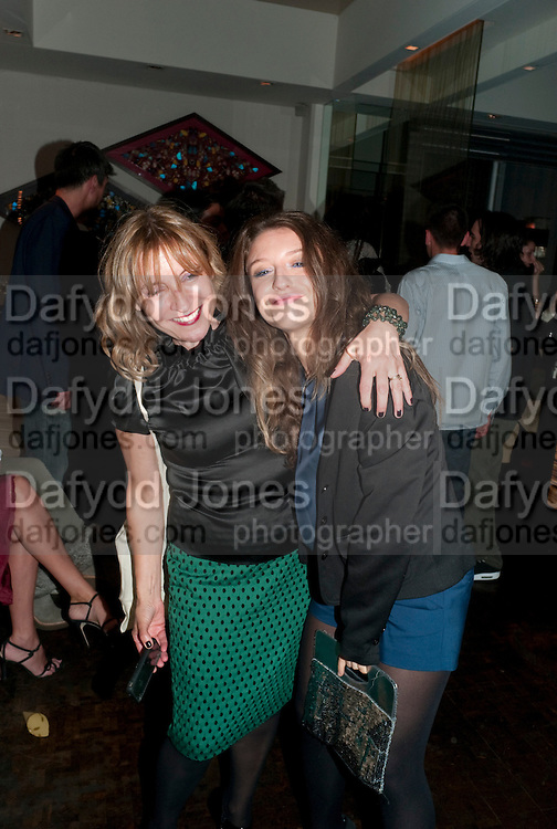 EMILY FABRI; SHERIM PONTECELLI, Giogio Locatelli's book launch. Loconda. Portman Sq. London. 4 October 2011. <br /> <br />  , -DO NOT ARCHIVE-&copy; Copyright Photograph by Dafydd Jones. 248 Clapham Rd. London SW9 0PZ. Tel 0207 820 0771. www.dafjones.com.