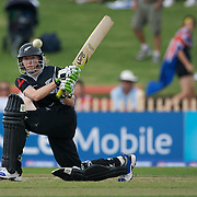 New Zealand captain Haidee Tiffen batting during the Australia V New Zealand group A match at North Sydney Oval in the ICC Women's World Cup Cricket Tournament, in Sydney, Australia on March 8, 2009. New Zealand beat Australia by 13 runs in the (D/L method)  rain affected match. Photo Tim Clayton
