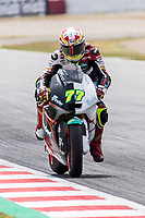 Dominique Aegerter of Switzerland and Kiefer Racing rides during free practice for the Moto2 of Catalunya at Circuit de Catalunya on June 9, 2017 in Montmelo, Spain.(ALTERPHOTOS/Rodrigo Jimenez)