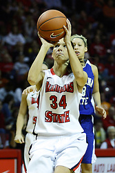 05 February 2011: Hannah Spanich during an NCAA Women's basketball game between the Indiana State Sycamores and the Illinois State Redbirds at Redbird Arena in Normal Illinois.