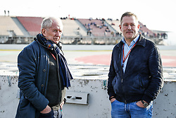 February 20, 2019 - Barcelona, Spain - MARKO Helmut (aut), Aston Martin Red Bull Racing Drivers' Manager, VERSTAPPEN Jos, father of Max, during Formula 1 winter tests from February 18 to 21, 2019 at Barcelona, Spain - Photo  /  Motorsports: FIA Formula One World Championship 2019, Test in Barcelona, (Credit Image: © Hoch Zwei via ZUMA Wire)