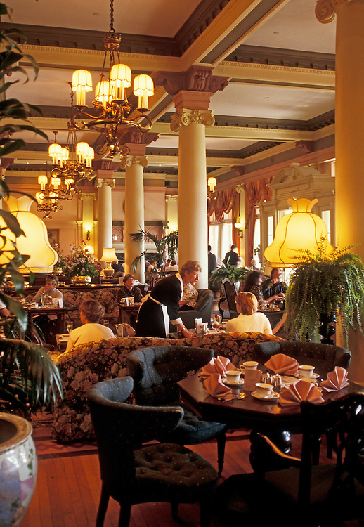 Tea Time at the Empress Hotel; Victoria, Vancouver Island, British Columbia, Canada.