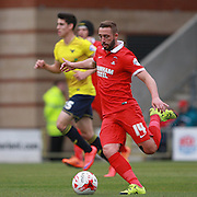 Leyton Orient midfielder Sammy Moore passes forward during the Sky Bet League 2 match between Leyton Orient and Oxford United at the Matchroom Stadium, London, England on 17 October 2015. Photo by Bennett Dean.