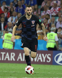 July 7, 2018 - Sochi, Russia - July 07, 2018, Sochi, FIFA World Cup 2018, the playoff round. 1/4 finals of the World Cup. Football match Russia - Croatia at the stadium Fisht. Player of the national team Ivan Rakiti. (Credit Image: © Russian Look via ZUMA Wire)