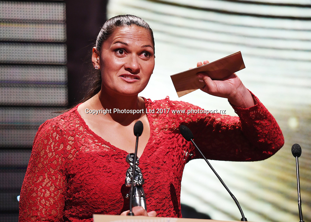 Dame Valerie Adams.<br /> The 54th Halberg Awards in support of the Halberg Disability Sport Foundation. Vector Arena, Auckland, New Zealand. Thursday 9 February 2017. &copy; Copyright photo: Andrew Cornaga / www.photosport.nz
