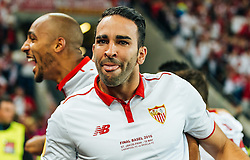 18.05.2016, St. Jakob Park, Basel, SUI, UEFA EL, FC Liverpool vs Sevilla FC, Finale, im Bild Jubel von Adil Rami (FC Sevilla) // Adil Rami (FC Sevilla) celebrates during the Final Match of the UEFA Europaleague between FC Liverpool and Sevilla FC at the St. Jakob Park in Basel, Switzerland on 2016/05/18. EXPA Pictures © 2016, PhotoCredit: EXPA/ JFK